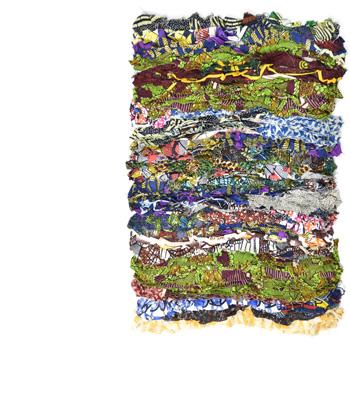 einzigartiger Upcycling Teppich